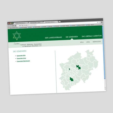 Verband Jüdischer Gemeinden in NRW – Website