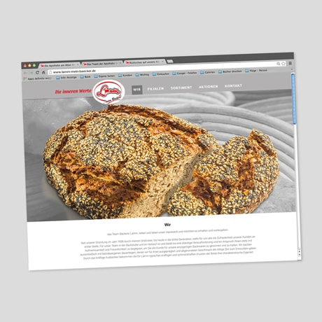 Bäckerei Lamm – Website