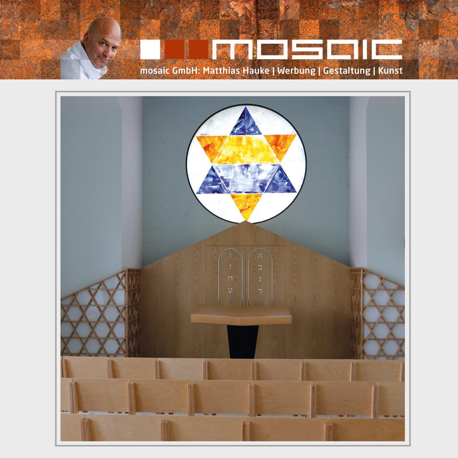 Werbeagentur mosaic - Kleine Synagoge - Davidstern
