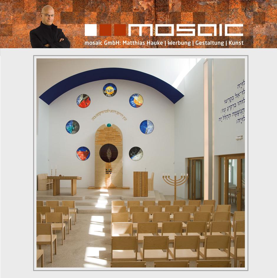 Werbeagentur mosaic - Innengestaltung der Synagoge Beit Tikwa