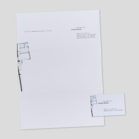 Briefbogen / Visitenkarte für Handwerker (Innenausbau)