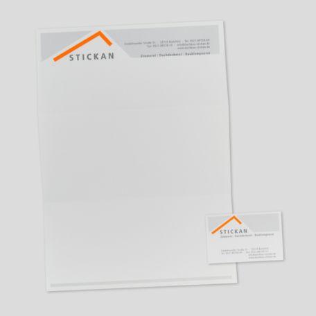Briefbogen / Visitenkarte - Dachdeckerbetrieb