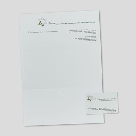 Briefpapier / Visitenkarte für jüdische Gemeinden