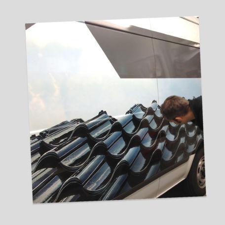 Fahrzeugbeklebung (Montage) für Dachdeckerbetrieb
